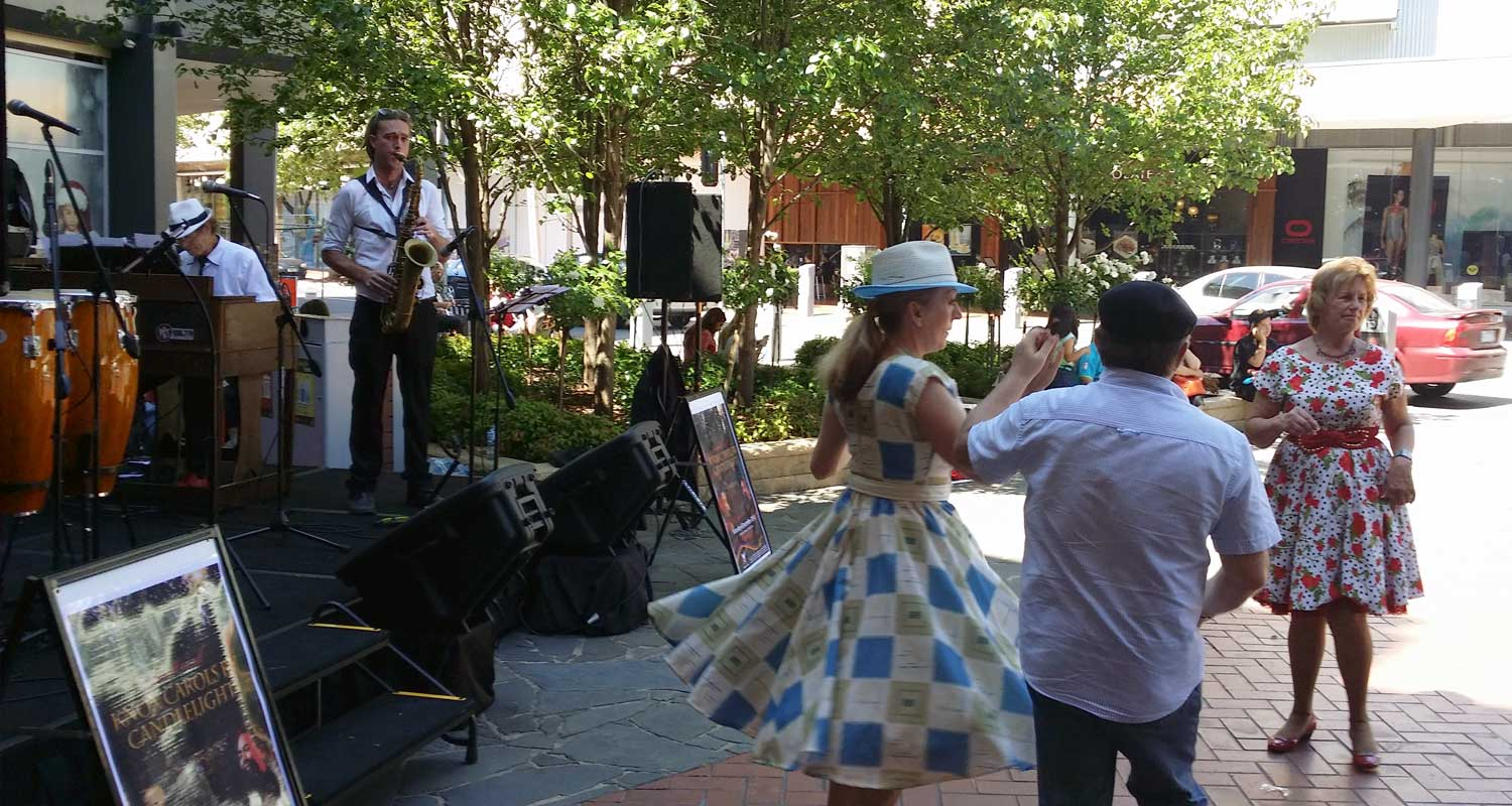Swing Dancers with The Jackson Four - Westfield Knox_29 Nov 2014