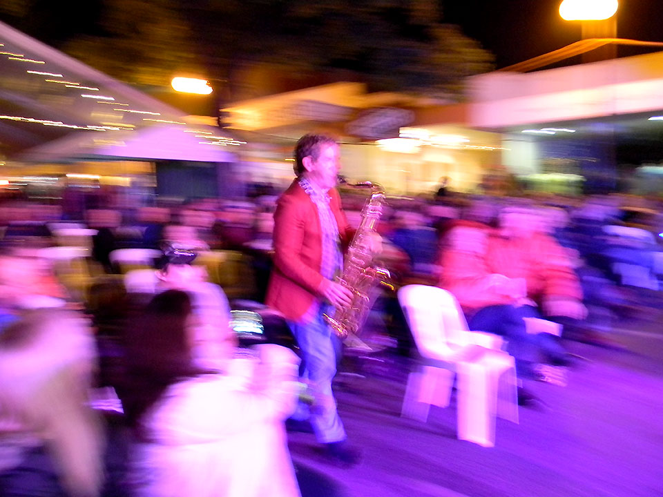 Jeff's Art Shot in Audience - The Jackson Four - Wangaratta Jazz and Blues Festival 2014